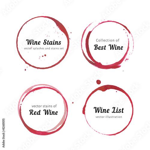 Fotografía  Wine stain circles