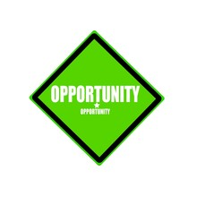 Opportunity White Stamp Text O...