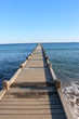 Ponton de la plage du débarquement à la Croix Valmer