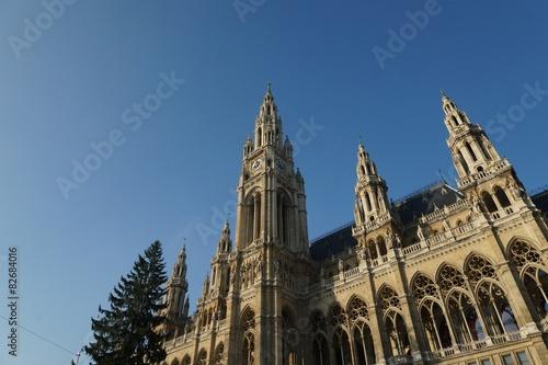 Wien Weihnachtsbaum Kaufen.Wiener Rathaus Mit Weihnachtsbaum Kaufen Sie Dieses Foto Und
