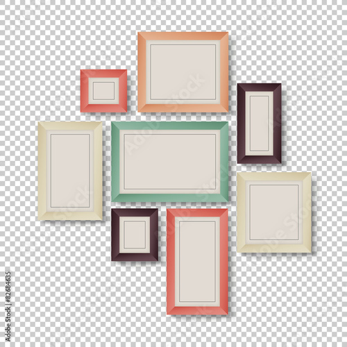 Group of Colorful Frames on Transparent Background - Buy this stock ...