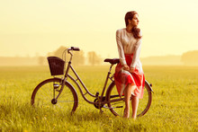 Woman On A Bycycle