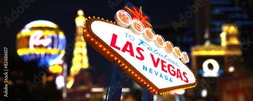 Foto op Aluminium Las Vegas Welcome to Fabulous Las Vegas Neon Sign