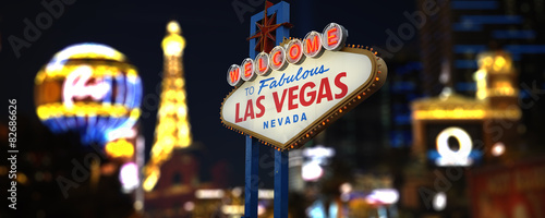 Poster de jardin Las Vegas Welcome to Fabulous Las Vegas Neon Sign