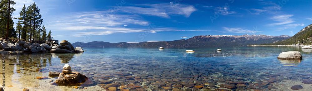Fototapety, obrazy: Lake Tahoe Panoramic Beach Landscape