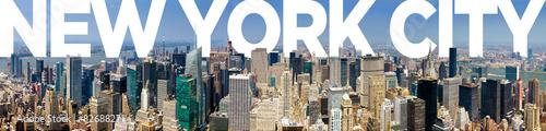 Printed kitchen splashbacks New York New York City Panoramic Skyline
