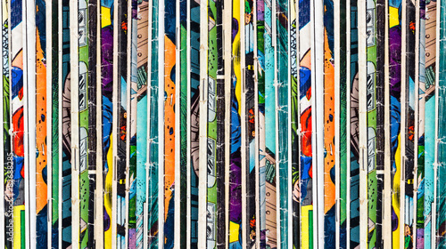 Fotografie, Obraz  Comic Books Background Texture
