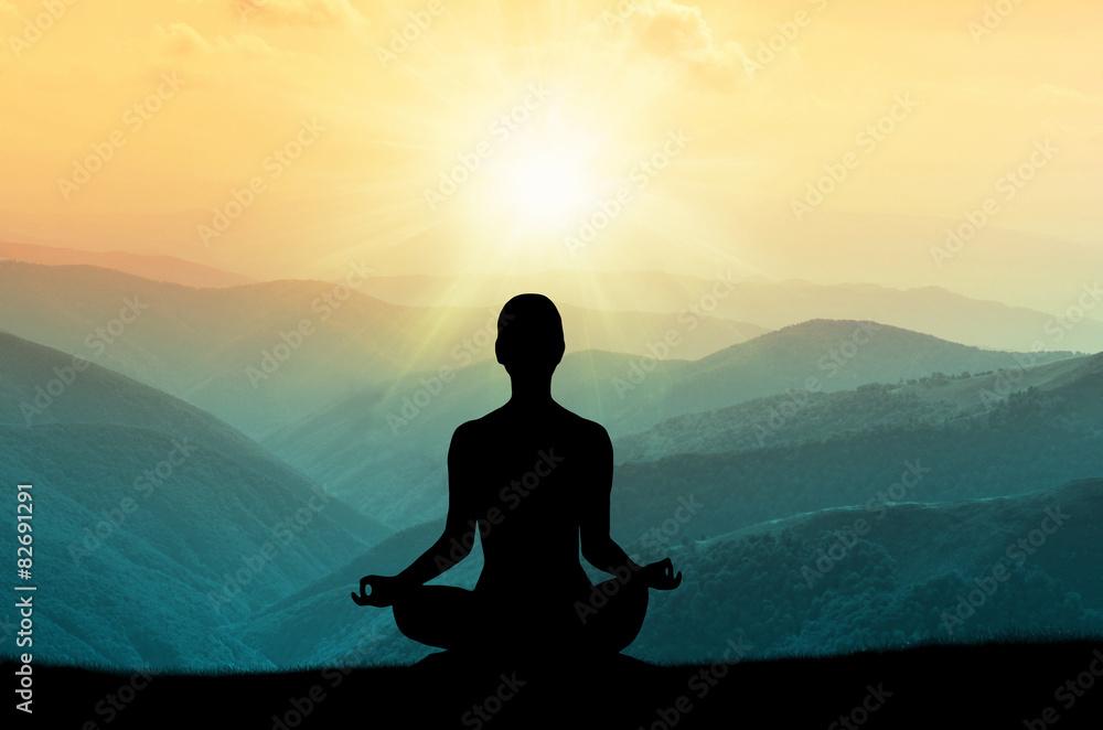 Fototapety, obrazy: Yoga and meditation