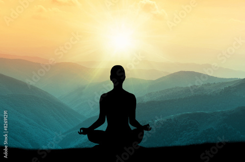 Yoga and meditation Wallpaper Mural
