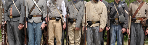 Slika na platnu Confederate uniforms - American Civil War 1861-1865