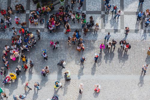 Foto people in Prague