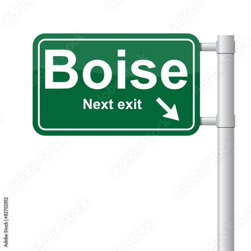 Boise next exit green signal vector Wall mural