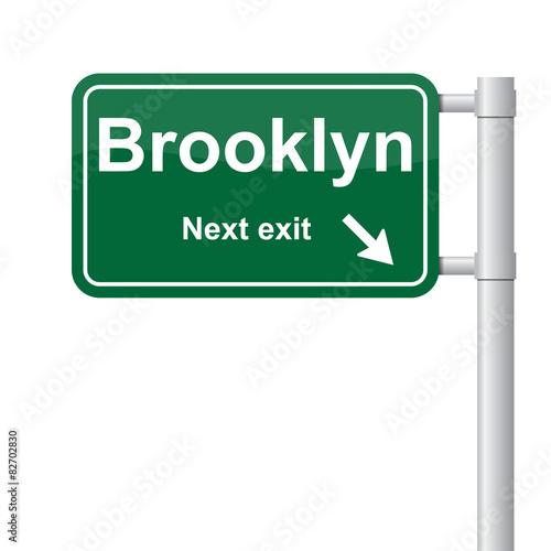 Brooklyn next exit green signal vector Wall mural