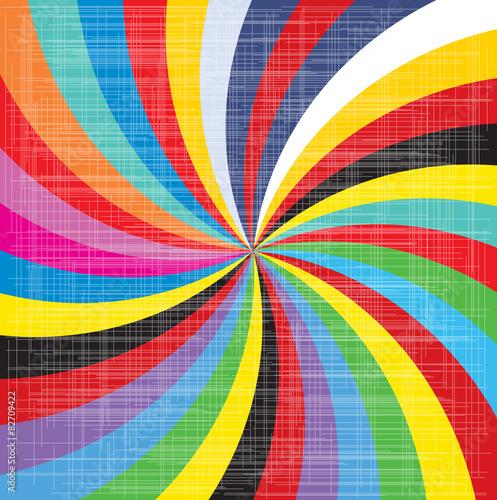 Spirala o wyglądzie pop-artu