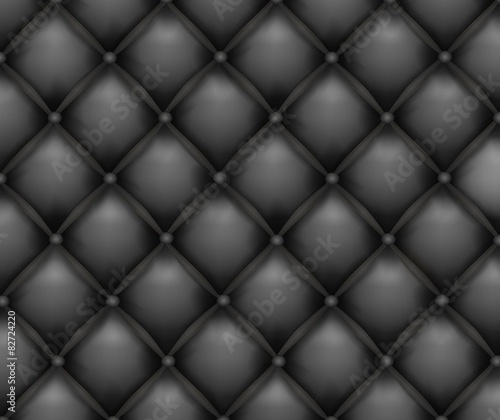 Wall Murals Leder Vector texture leather upholstery sofa. Black background