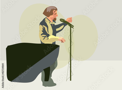 Photo  Stand-up artist. Vector
