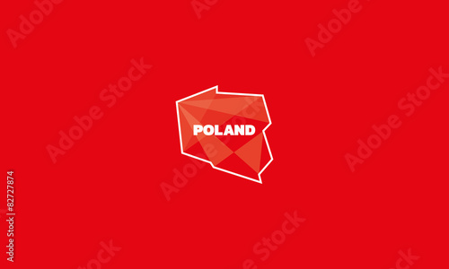Poland vector outline map design