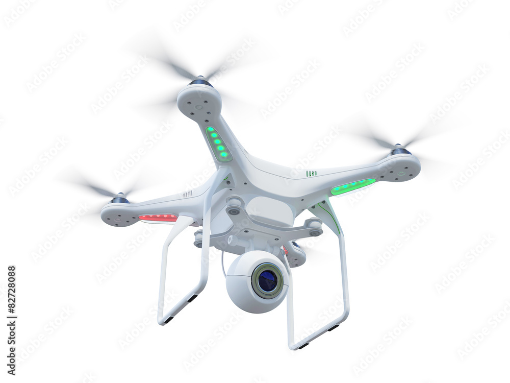 Fototapety, obrazy: Drone isolated on white background