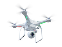 Drone Isolated On White Backgr...