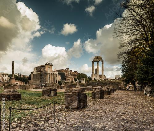 Roman ruins in Rome Canvas Print