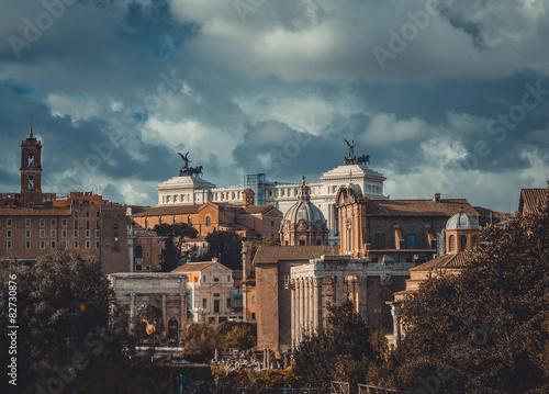 Photo  Roman ruins in Rome