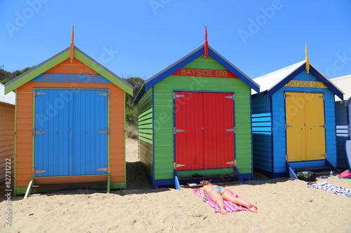 Poster Oceania Brighton beach in Melbourne