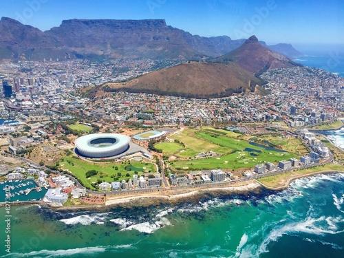 Fotobehang Zuid Afrika Kapstadt von oben