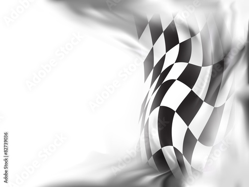 Fotografía  race flag  background vector illustration