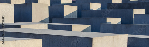 Fotografie, Obraz  concrete blocks of the jewish holocaust memorial