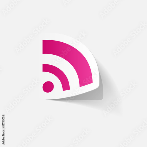 Paper Clipped Sticker Wireless Network Symbol Buy This Stock