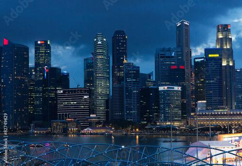Photo  beautiful view to bangkok city at night