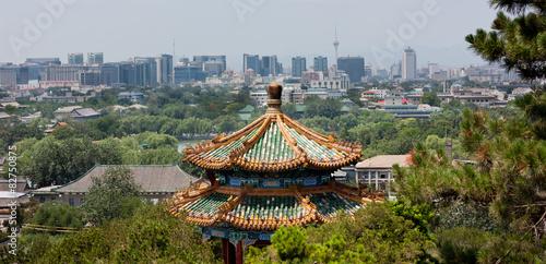 Deurstickers Beijing Modern Beijing Skyline
