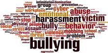 Bullying Word Cloud Concept. V...