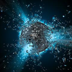 Naklejka Disco planet explosion