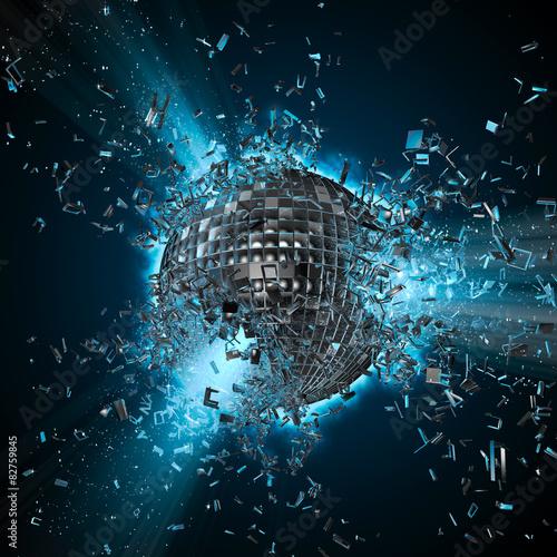 Fotografía  Disco planet explosion