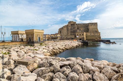 Deurstickers Canarische Eilanden Castel dell'Ovo in Naples, Italy
