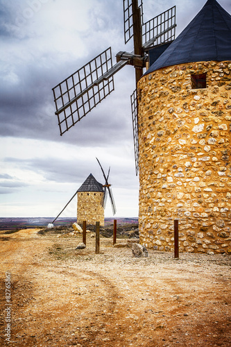 spanish windmills. Toledo province Canvas Print