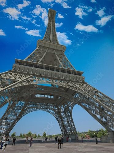 Photo Stands Paris The Eiffel Tower
