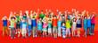 canvas print picture - Children Kids Childhood Friendship Happiness Diversity Concept