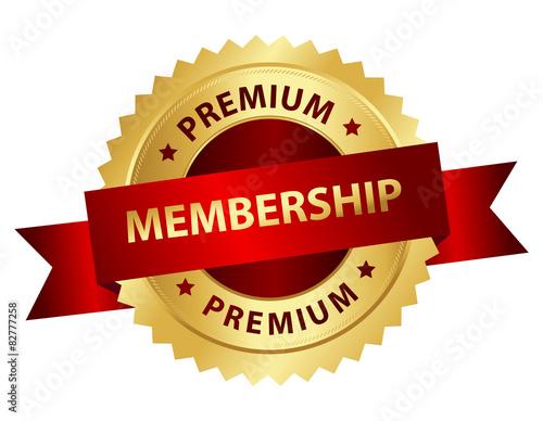 Fotografía  Premium membership badge / stamp