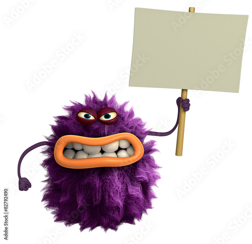 Recess Fitting Sweet Monsters purple cartoon hairy monster 3d