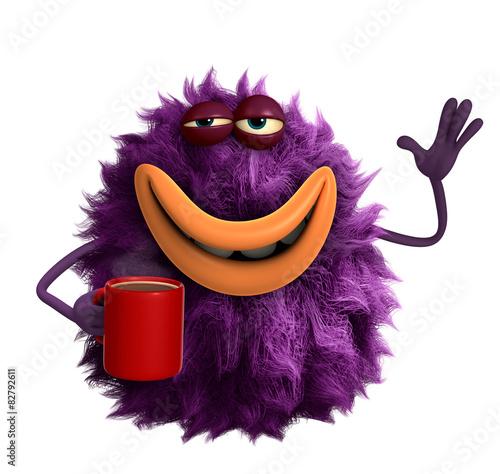 Recess Fitting Sweet Monsters purple cartoon hairy monster 3d