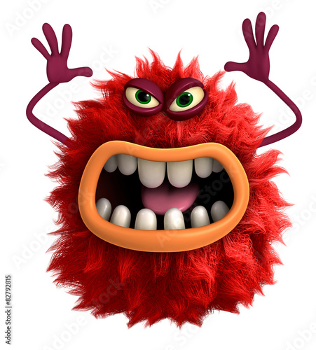Recess Fitting Sweet Monsters cartoon hairy monster 3d