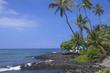 ハワイ島のカイルアコナ海岸