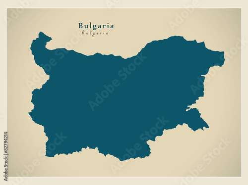 Modern Map - Bulgaria BG Wallpaper Mural