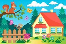 Garden And House Theme Backgro...