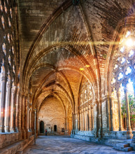 Interiors Of La Seu Vella Cathedral