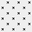 minimalistic vector holiday pattern. planes