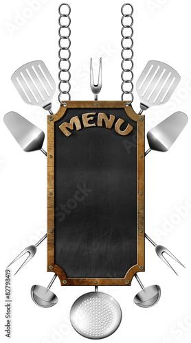menu-zywnosci-tablica-z-lancuchem