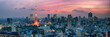 Leinwanddruck Bild - Tokyo Panorama bei Nacht